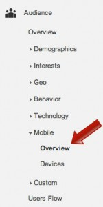 click the mobile overview menu option